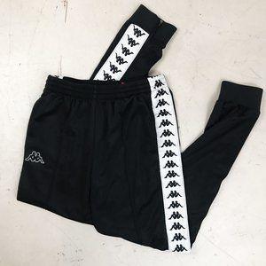 Kappa Black and White Sweatpants Joggers